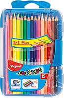 Карандаши цветные COLOR PEPS Smart Box, 15 цветов, пенал MP.832035 Maped