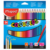 Карандаши цветные, 24 цвета, COLOR PEPS Classic, Maped