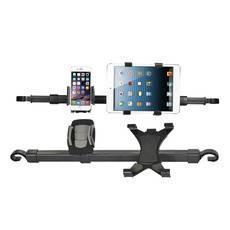 Автодержатель на подголовники 2в1 (планшет + телефон) JHD-50HD12-88 Black