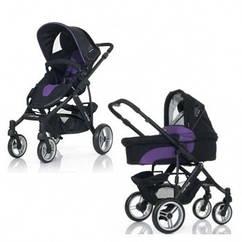 Коляска ABC Design Mamba 2в1 Purple-black черный(фиолетовый)