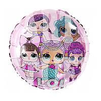 Фольгированный шарик Lol розовый, 45*45 см