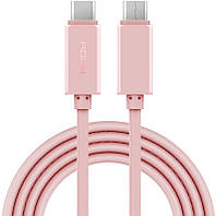 Кабель Rock USB-C to C Cable USB3.0 1 m Rose Gold #I/S
