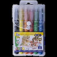 Карандаши с акварельным эффектом 6 цветов BABY Line ZiBi