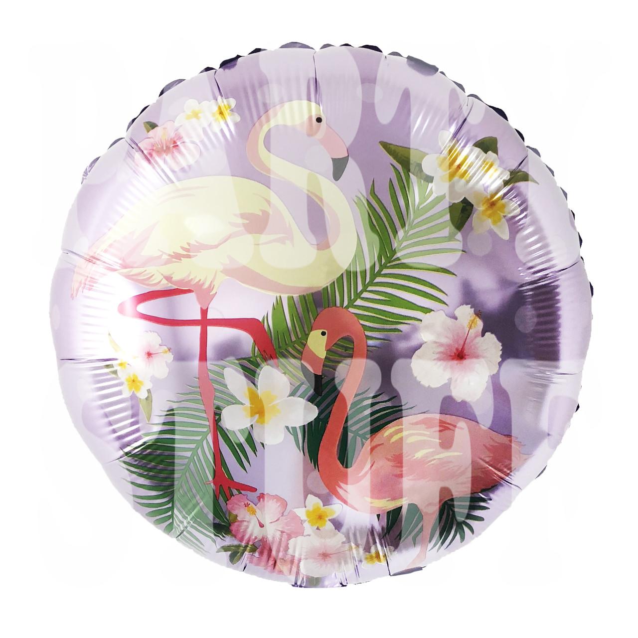 Фольгированный шарик Фламинго, 45*45 см