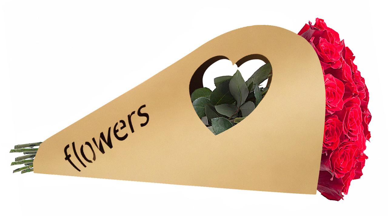 Паперова сумка квіти для букета