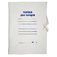 Папка на завязках А4 JOBMAX, картон 0,3 мм, клееный клапан BM.3359 Buromax (отеч.пр-во)