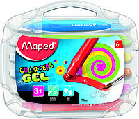 Мелки гелевые 6 цветов, COLOR PEPS GEL, Maped
