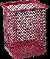 Подставка для ручек квадратная BUROMAX, металлическая, красная BM.6201-05 Buromax (импорт)
