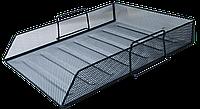 Лоток для бумаг горизонтальный BUROMAX, металлический, черный BM.6254-01 Buromax (импорт)