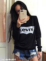 Свитшот женский весна-осень Levis (42/46 универсал) (цвет черный) СП
