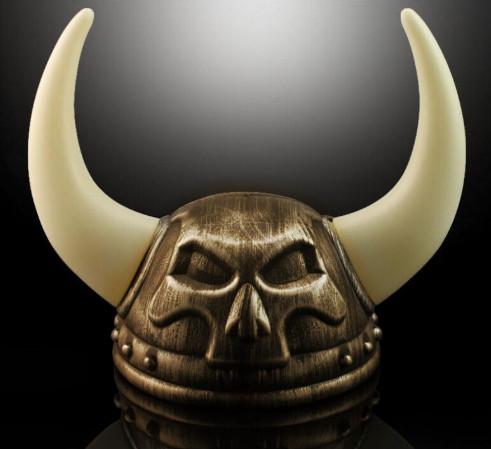 Шлем череп Викинга (золото)
