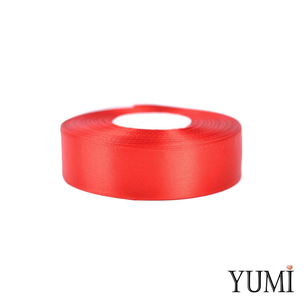 Лента (тесьма) атласная (сатин) 25 мм КРАСНАЯ 8055/8243