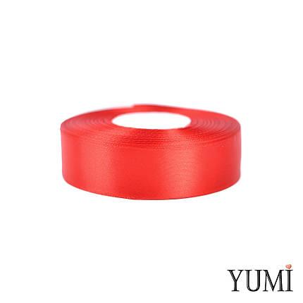 Лента (тесьма) атласная (сатин) 25 мм КРАСНАЯ 8055/8243, фото 2