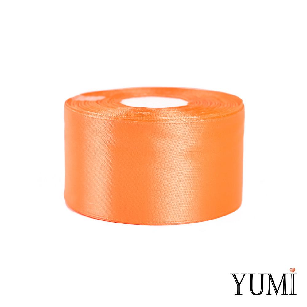 Стрічка (тасьма) атласна (сатин) 50 мм ПОМАРАНЧЕВА 8020