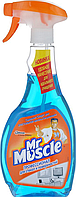 "Средство для чистки стекла ""Мистер Мускул"" с распылителем, 500 мл, синий, Mr. Muscul, w.01013"