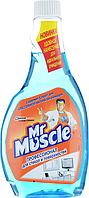 """Средство для чистки стекла """"Мистер Мускул"""", сменная бутылка, 500 мл, синий, Mr. Muscul, w.01020"""