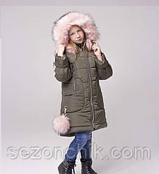 Недорого куртку зимнюю для девочки от производителя стильную