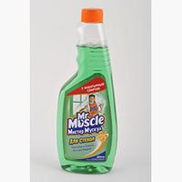 "Средство для чистки стекла ""Мистер Мускул"", сменная бутылка, 500 мл, зеленый, Mr. Muscul, w.00160"