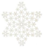 Новогоднее украшение Снежинки 32 см, цвет: белый (12 шт в упаковке)