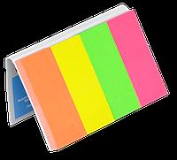 Закладки бумажные с клейким слоем, 20х50мм, 4х50 листов, неон, ассорти 7576001PL Donau