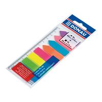Закладки пластиковые с клейким слоем: 4 + 4 цвета по 25 листов, неон 7579001PL-99 Donau