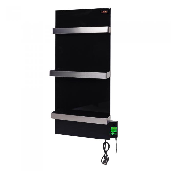 Керамический полотенцесушитель DIMOL Standart 07 с терморегулятором (черный)