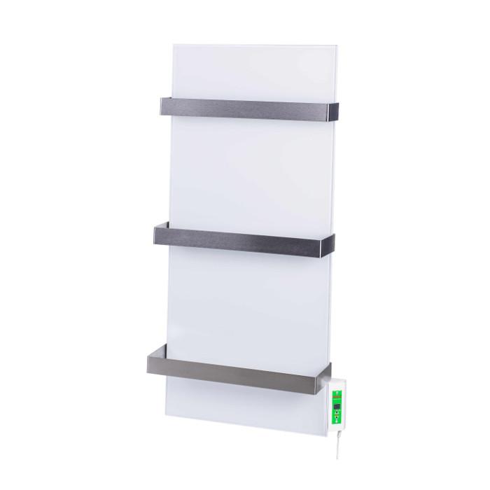 Керамический полотенцесушитель DIMOL Standart 07 с терморегулятором (белый)