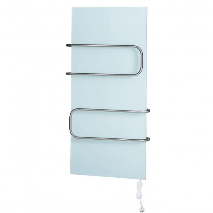 Керамический полотенцесушитель DIMOL Standart 07 - белый (рейлинги трубчатые)