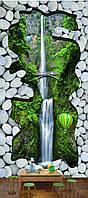 """3D фотообои """"Горный водопад"""""""
