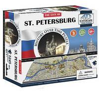 Пазл 4D Историческая модель Санкт Петербург объемный пазл 4D Cityscape St Petersburg Time Puzzle