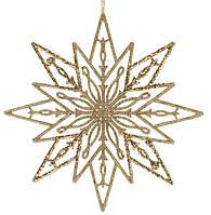 Звезда рождественская 24 см, пластик, цвет: золото (12 шт в упаковке)