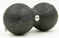 Двойной массажный мячик для миофасциального массажа DuoBall Black (Epp-пена), фото 1