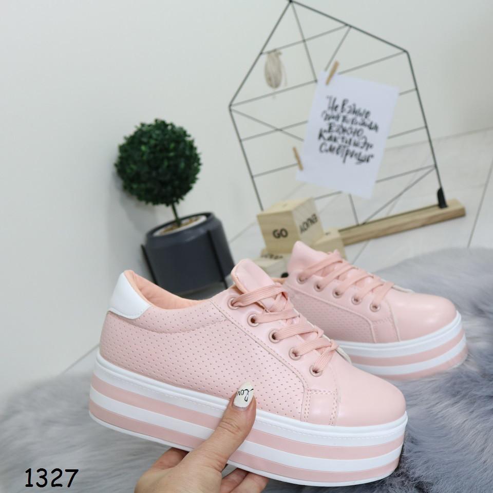 a8631e40 Кроссовки на высокой платформе, розовые, удобные, женская спортивная обувь