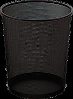 Корзина для бумаг круглая, металлическая, черный BM.6270-01 Buromax (импорт)