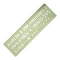 Линейка-трафарет шрифтов №16 непрозрачный ЛШ-16нц Спектр
