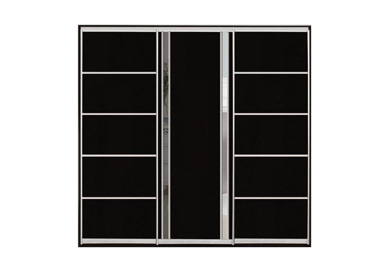 Шкаф-купе с комбинированными фасадами ДСП+Зеркало трехдверный Классик, ТМ Матролюкс