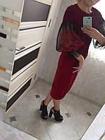 Вишита сукня жіноча на оксамитовому полотні дизайнерська робота , фото 1