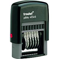 Нумератор пластмассовый 6-разрядный, шрифт 4 мм 4846 Trodat