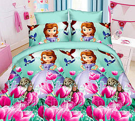 Детское постельное «София с тюльпанами» полуторный размер