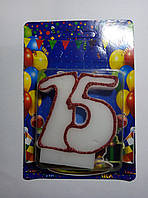Свечи тортовые цифры Юбилейные 15 лет