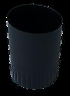 Стакан пласт. для письменных принадлежностей JOBMAX, черный BM.6351-01 Buromax (отеч.пр-во)
