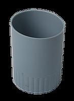 Стакан пласт. для письменных принадлежностей JOBMAX, серый BM.6351-09 Buromax (отеч.пр-во)