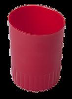 Стакан пласт. для письменных принадлежностей JOBMAX, красный BM.6351-05 Buromax (отеч.пр-во)