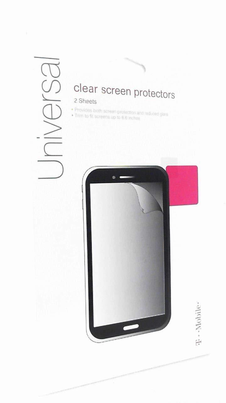 Универсальная прозрачная защитная пленка для экранов до 6,6 дюймов (2 шт)