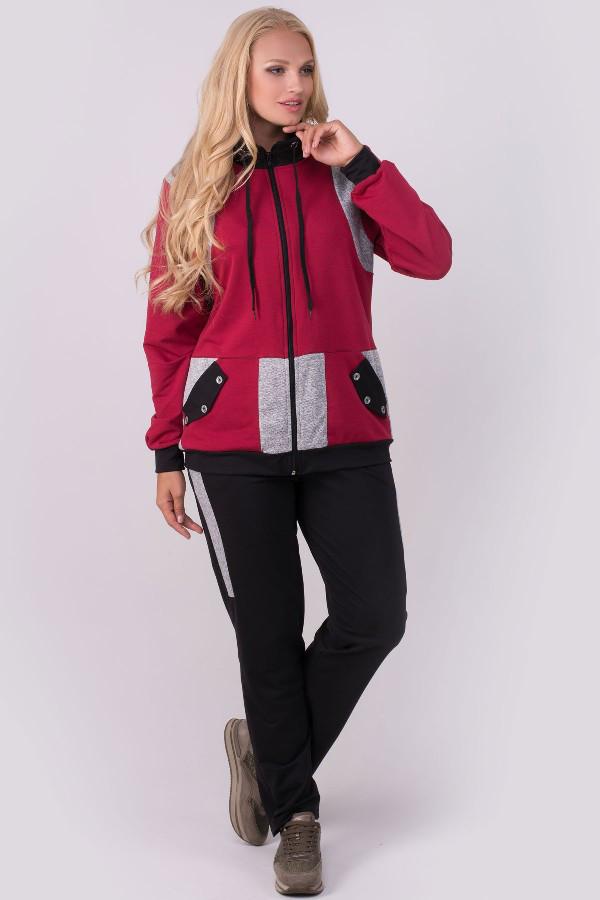 eb56992f6ab Спортивный костюм Касиди для женщин большого размера 54-64 батал бордовый