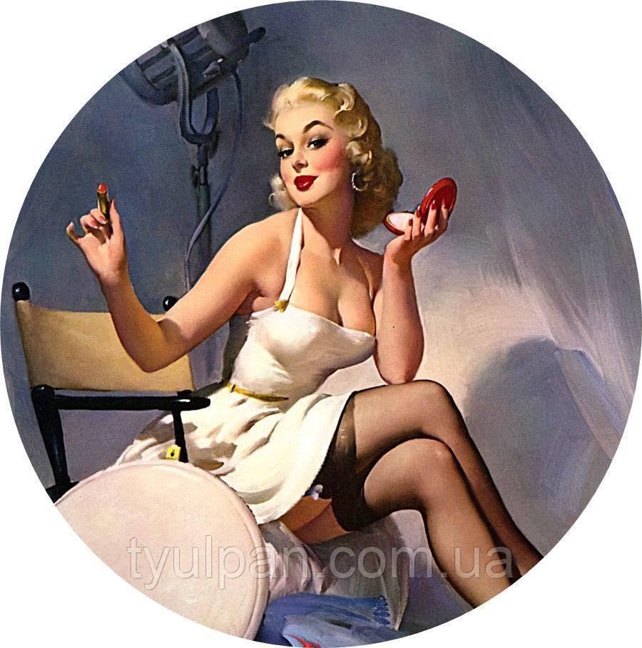 Вафельная картинка пин -ап Мерлин Монро и др опт от 10 шт можно разных!