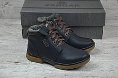 Подростковые зимние ботинки Zangak черные топ реплика