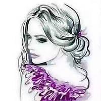 Вафельная картинка для торта девушки гламур