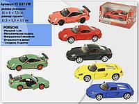 """Машина металл """"Kinsmart"""" Porsche Matte в коробке 16х8х7см (KT5371W)"""