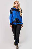Спортивный костюм с гипюром Сайла для женщин большого размера 54-64 батал электрик